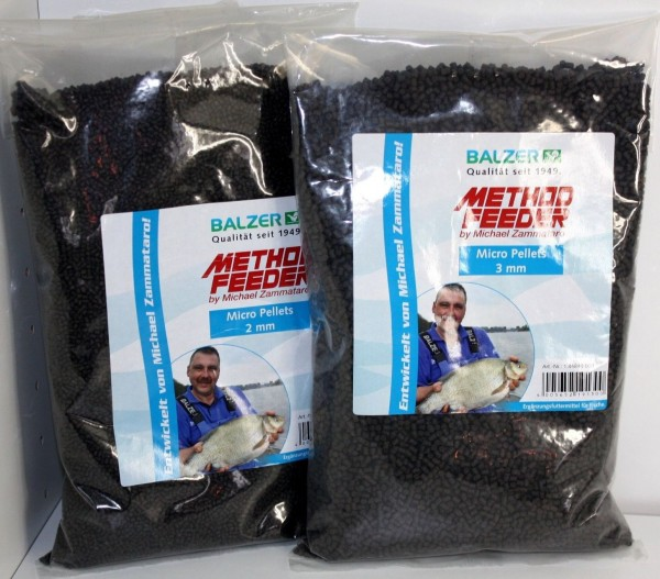 Balzer Zammataro Feedermaster Method Feeder Premium Micro Pellets Halibut 2mm 3mm