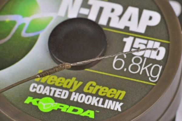 Korda N-Trap Soft 20lb 9kg Weedy Green