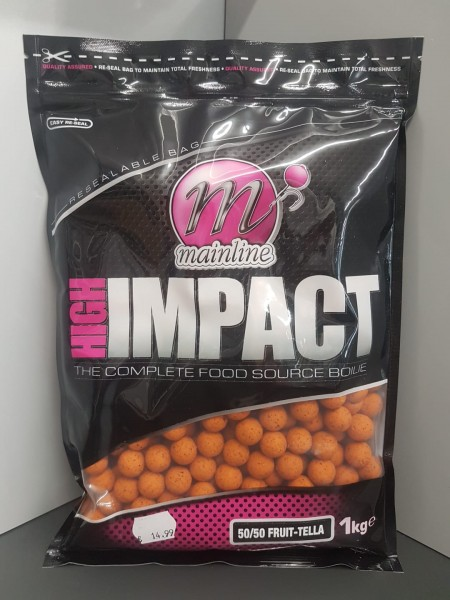 Mainline High Impact Boilies 50/50 fruit Tella 16mm, 1 kg