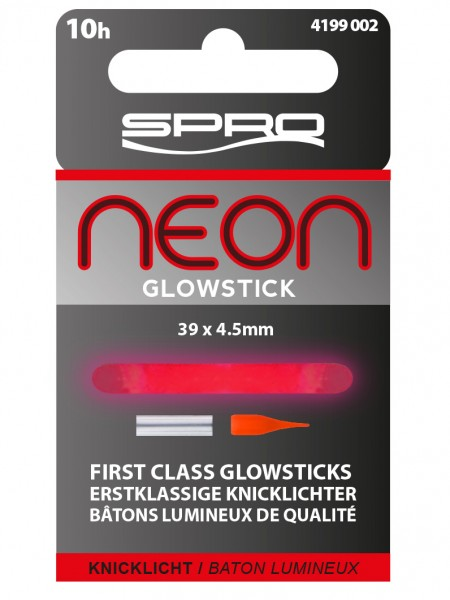 Spro Neon Glow Stick Red 39x4,5mm Rot