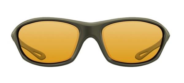 Korda Sunglasses Wraps Gloss Olive Frames Yellow Lens