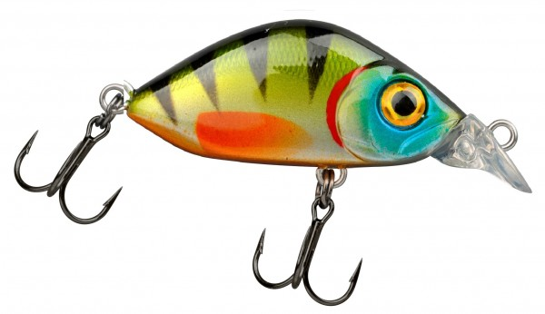 Trout Master FLAT MINI CRANK 30 Green Perch