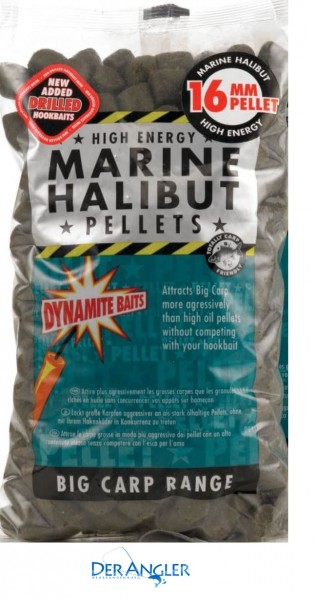 Dynamite Baits Marine Halibut Pellets 16mm(Pre-Drilled) 900gr