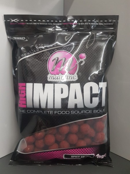 Mainline High Impact Boilies Spicy Crab 20mm, 1 kg