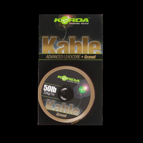 Korda Kable Leadcore Gravel 50lb 22kg - 7m