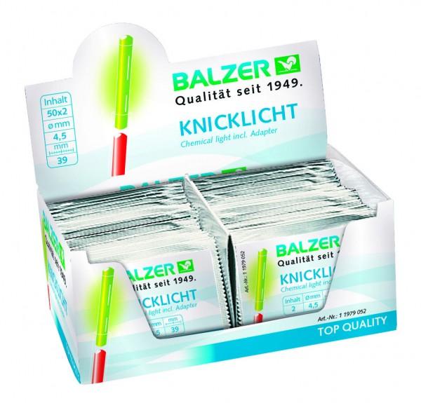 Balzer Knicklichter Box 100 Stück ( 50 Packungen a 2 Stück )