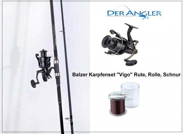 Balzer Karpfenset Rute 3Lbs 3,60m Rolle Vigo BR5500 Schnur 270m 0,33mm