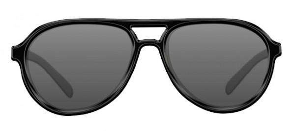 Korda Sunglasses Aviator Mat Black Frame Grey Lens