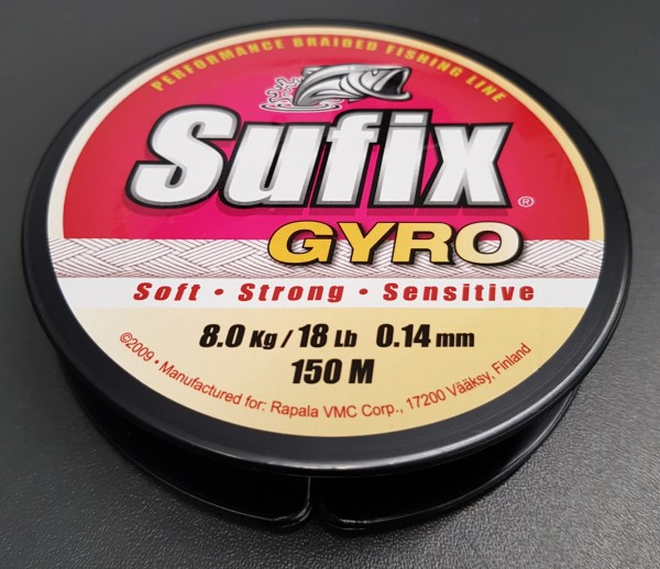 Sufix Gyro 150m 0,14mm 8,00kg Green