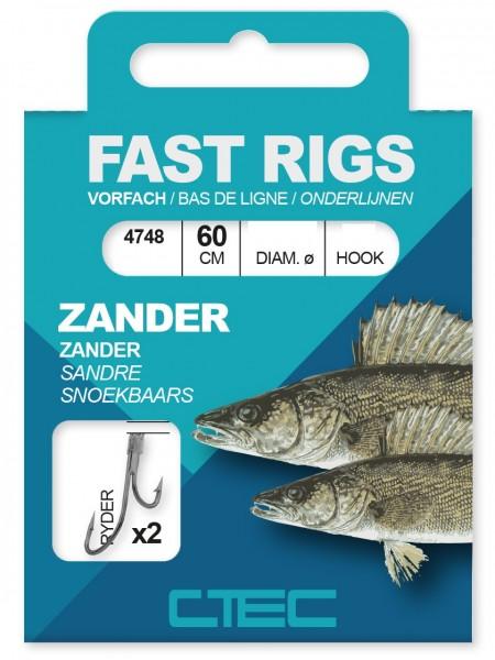 Spro C-Tec Zander Ryder gebunde Zielfischhaken Gr. 1 2 4 60cm