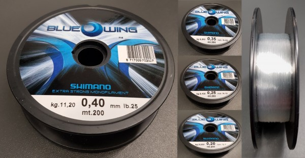 Shimano Blue Wing 200m 0,20mm 0,25mm 0,35mm 0,40mm