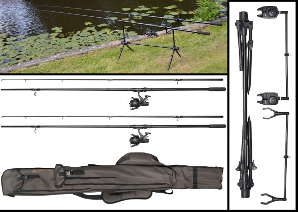 Spro Karpfenset C-TEC EVOLUTION 2 RODS OUTFIT 3.30m 3,60m