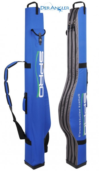 SPRO SEMI-HARD ROD CASE BLUE 3-ZIP 165CM