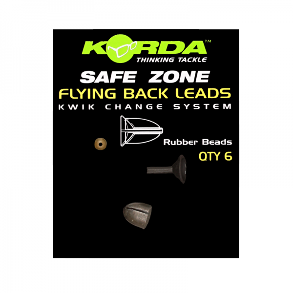 Korda Safe Zone Flying Backleads Medium 5g 6 Stück