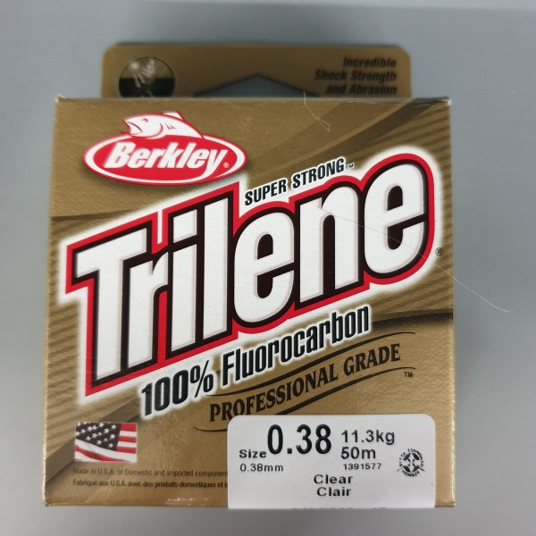 Berkley Trilene 100% Fluorocarbon 0,38mm 11,3kg 50m Clear
