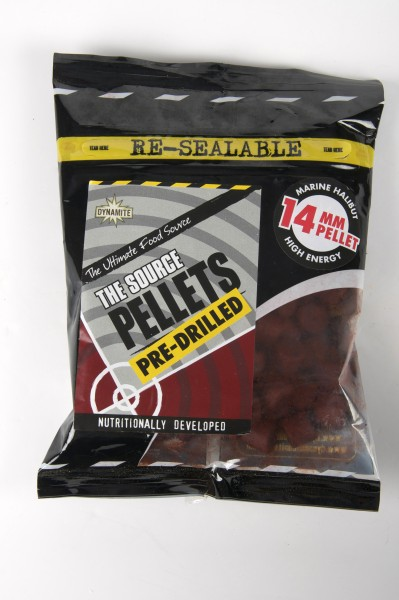 Dynamite Baits Source Pellets 8mm 14mm 21mm Pre-Drilled - 350g