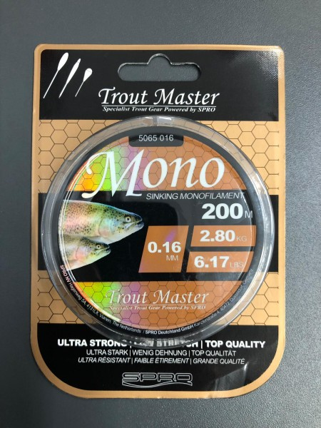 Spro TM Trout Master Mono Ultra High Performance Schnur 200m