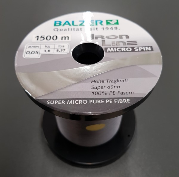 Balzer Iron Line Micro Spin 0,05mm a´ 25m