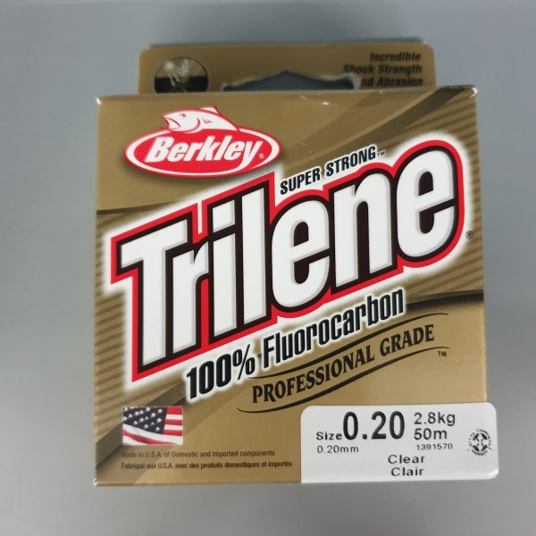 Berkley Trilene 100% Fluorocarbon 0,20mm 2,8kg 50m Clear