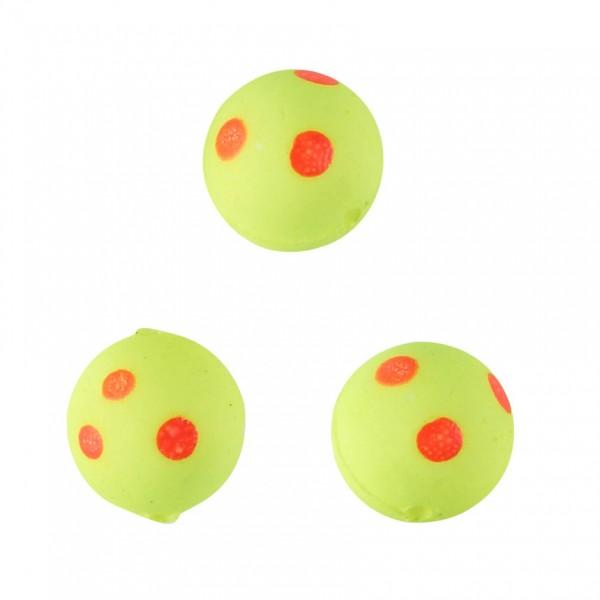 Balzer Lockperlen gelb rote Punkte