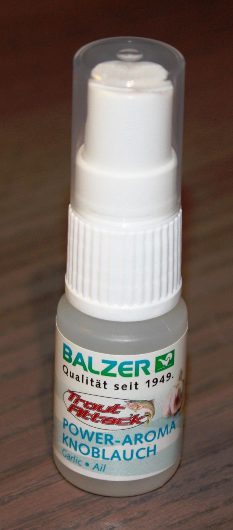 Balzer-Trout-ATTACK-SPRAY-OLIO-API-MADE-aglio-SANGUE-FEGATO-Forelli-lachsei-NEW