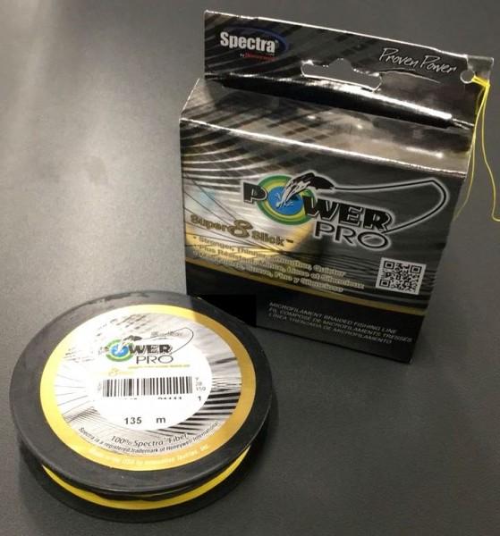 Power Pro Super 8 Slick 135m Hi-Vis Yellow Gelb 0,19mm 15kg