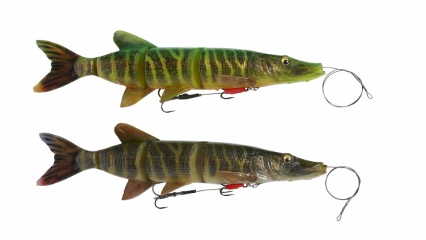 Savage Gear Line Thru Pike 25cm 110g Firetiger Striped Perch Schleppköder