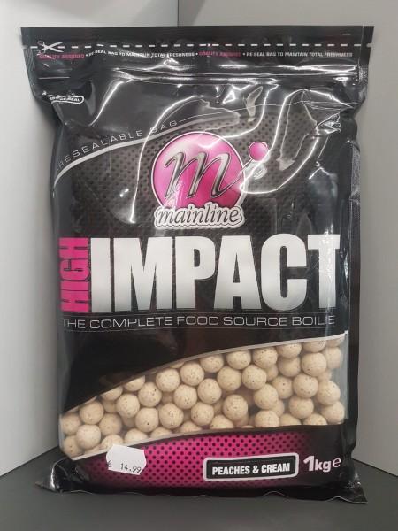 Mainline High Impact Boilies Peaches & Cream 16mm, 1 kg