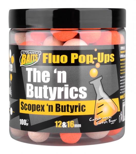 Strategy Baits Pop Ups 12 & 16mm SCOPEX'N BUTYRIC 100g