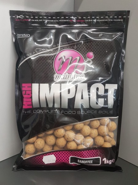 Mainline High Impact Boilies Banoffee 20mm, 1 kg