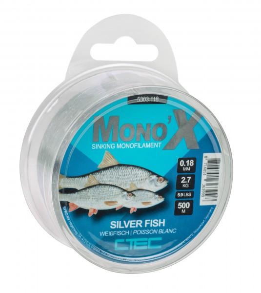Spro C-Tec Weißfisch monofile Schnur 0,14mm 0,16mm 0,18mm 0,20mm Grey 500m