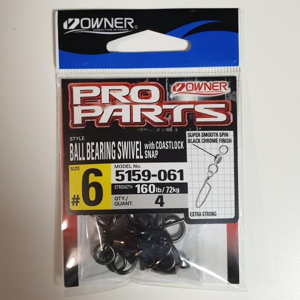 Balzer Owner 5159 Ball Bearing Swivel Kugellagerwirbel Gr. 4 5 6