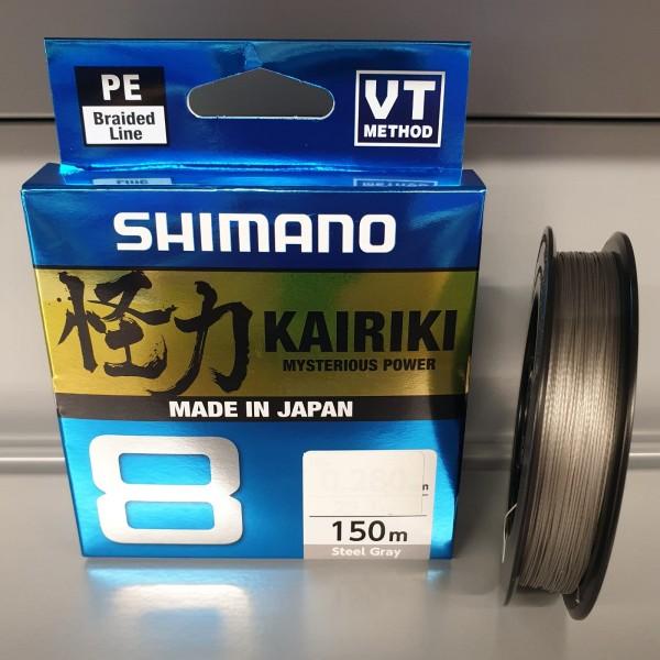 Shimano Kairiki VT NEW 8 150m Steel Gray