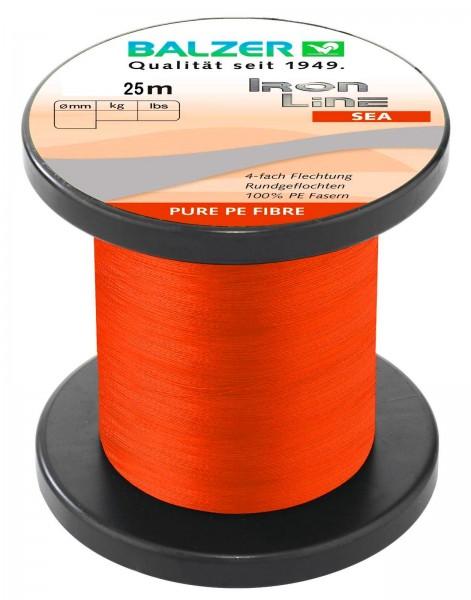 Balzer Iron Line 4 Sea Orange 25m