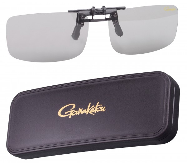 Gamakatsu G-Glasses Clip on Glass Amber Light Gray Polarisationsbrille Polbrille