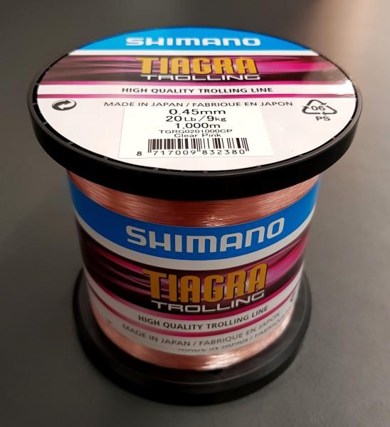 Shimano TIAGRA TROLLING 0,45mm 9kg 20LB 1000M CLEAR PINK