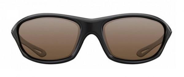 Korda Sunglasses Wraps Gloss Black Frames Brown Lens