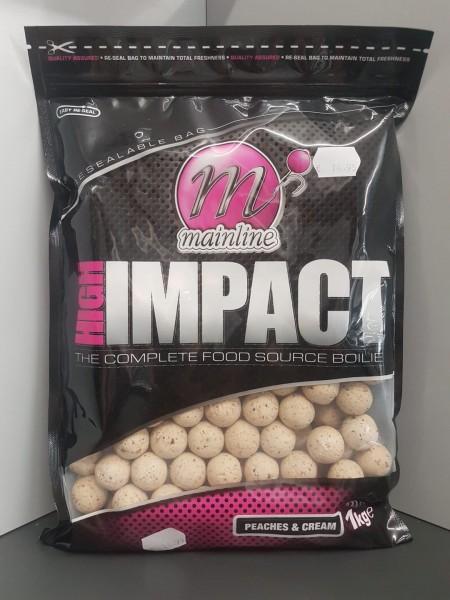 Mainline High Impact Boilies Peaches & Cream 20mm, 1 kg