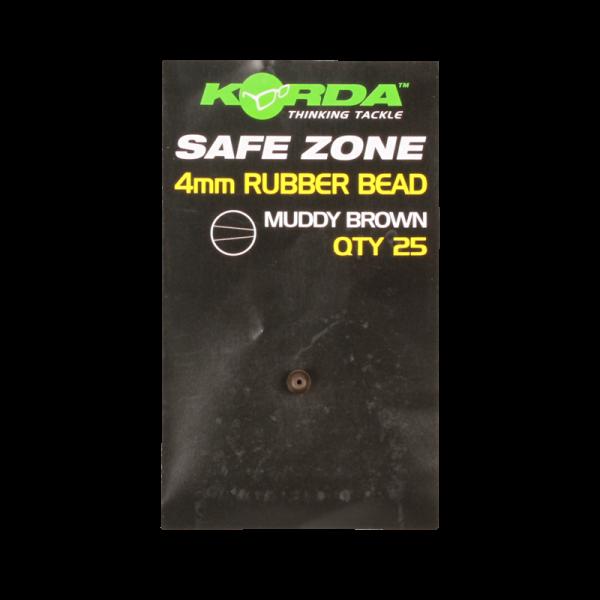 Korda Safe Zone 4mm Rubber Bead Brown 25 Stück