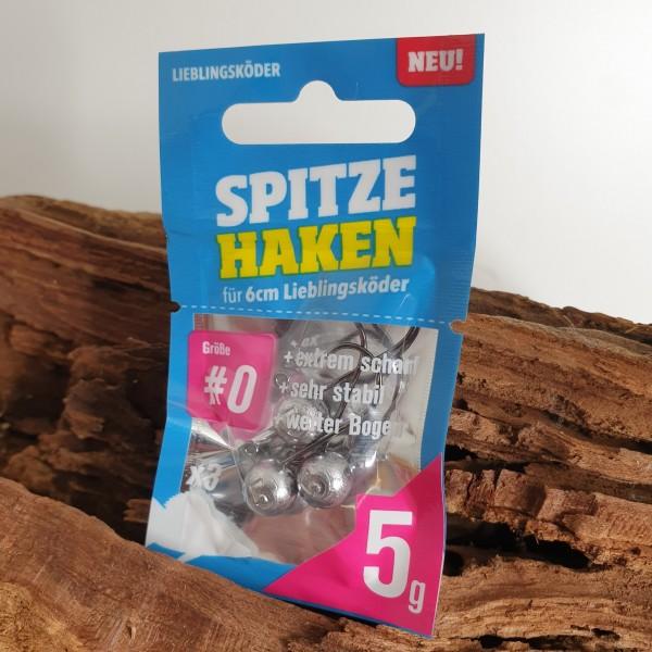 Lieblingsköder Spitze Haken Größe Gr. 0 für 6cm Köder 1-12g Mixpaket Fluß See