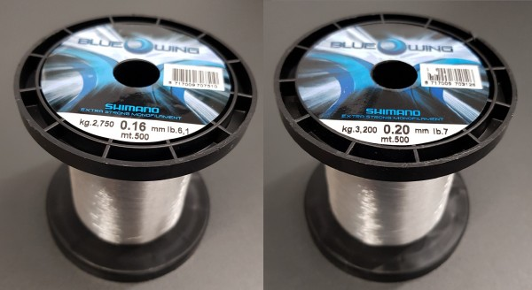 Shimano Blue Wing 500m 0,16mm 0,20mm monofile Schnur