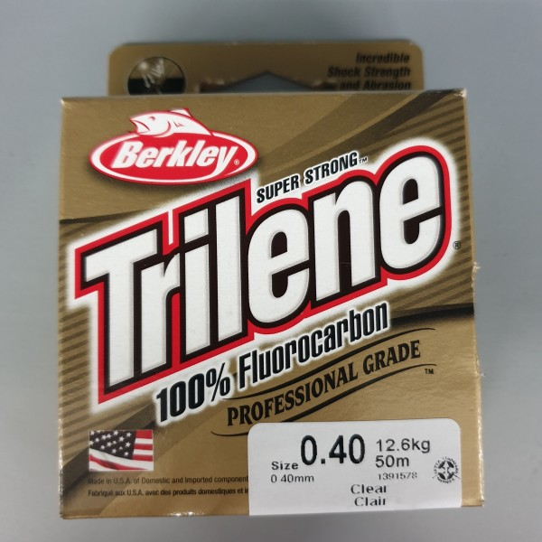 Berkley Trilene 100% Fluorocarbon 0,40mm 12,6kg 50m Clear