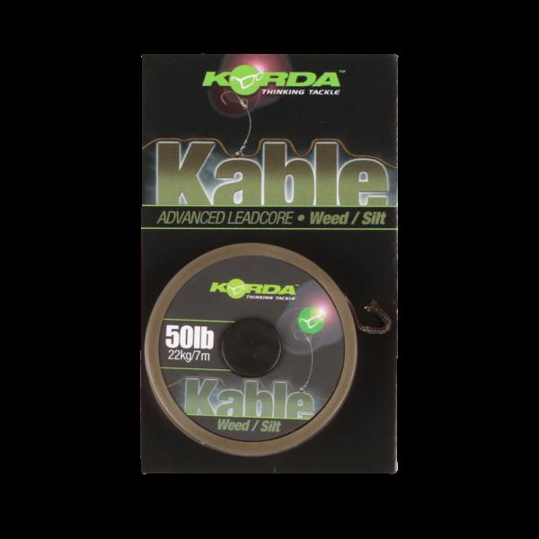 Korda Kable Leadcore Weed / Silt 50lb 22kg - 7m.