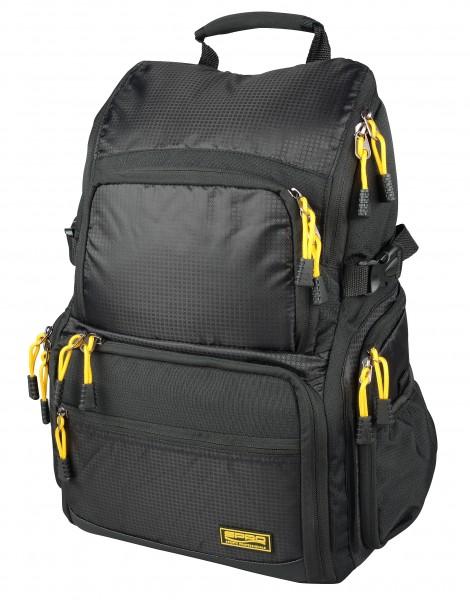 SPRO BACK PACK Black Rucksack + 4 Boxen