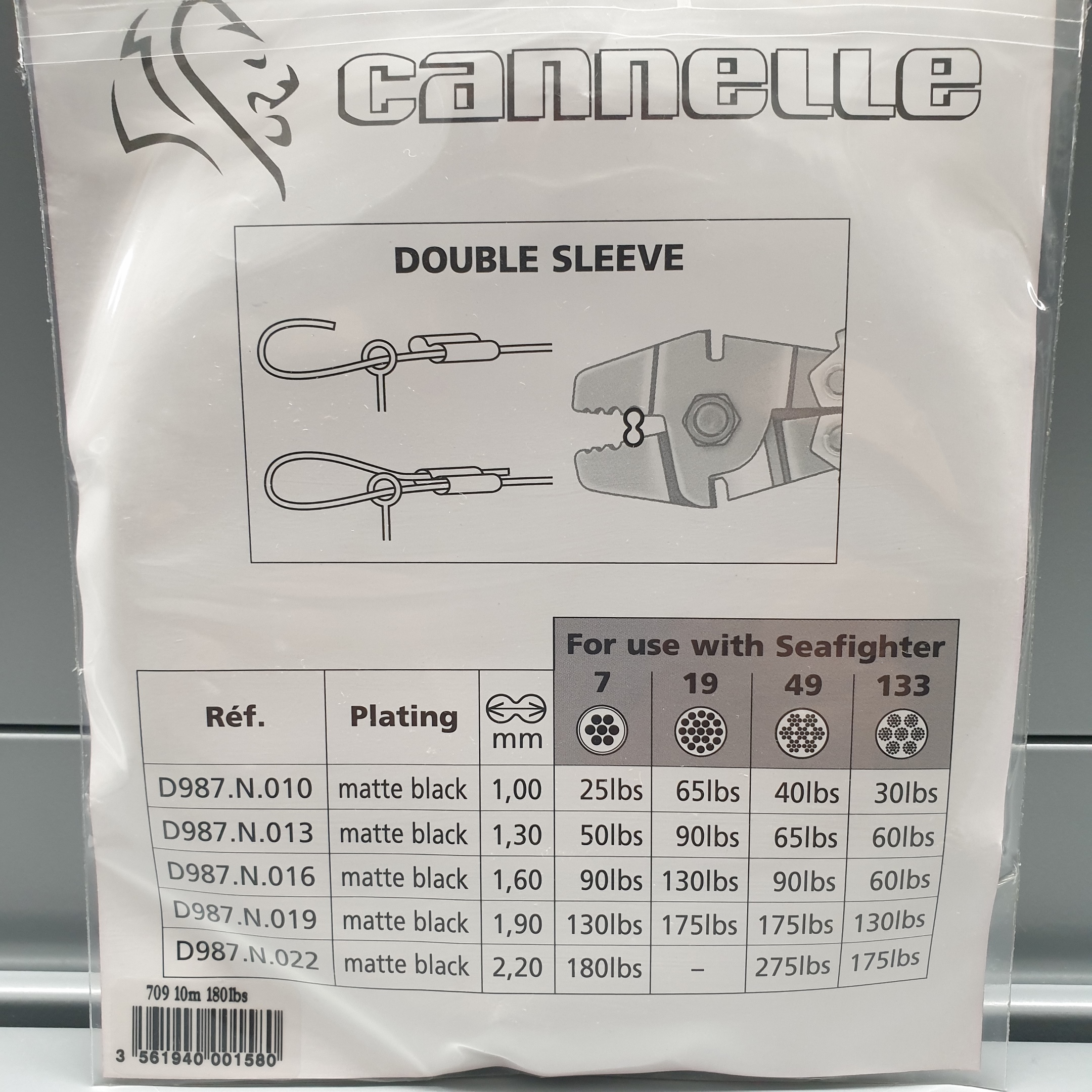 cannelle Seafighter Stainless Stahlvorfach 10m 50lbs 90lbs 130lbs 180bs 7X7 OVP