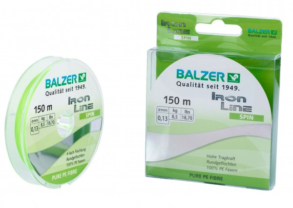 Balzer Iron Line Spin Chatreuse 150m