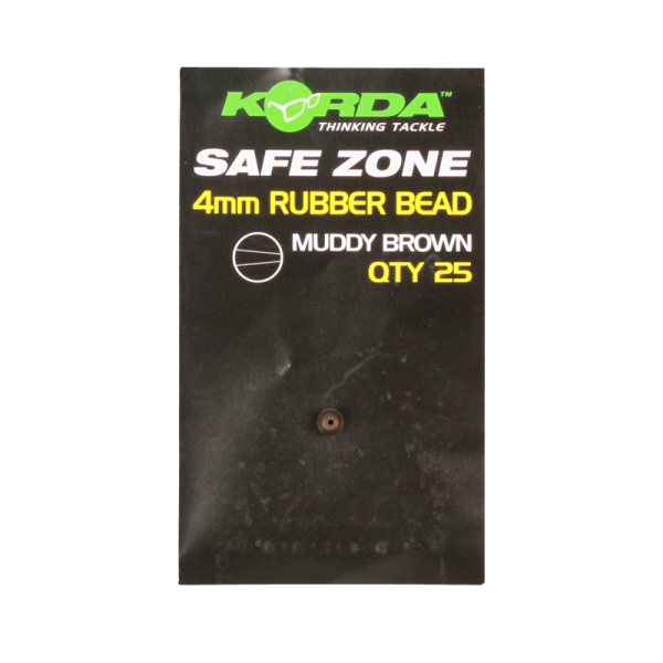 Korda Safe Zone 4mm Rubber Bead Green 25 Stück