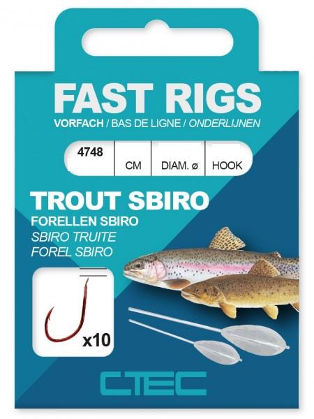 Spro C-Tec Trout Sbiro Forelle gebundene Zielfischhaken Gr. 4 6 8 10
