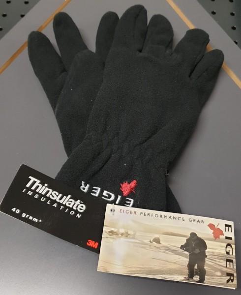 Eiger Fleece Thinsulate Glove Handschuhe Gr. S M Black