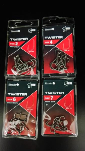 Nash Twister Pinpoint Haken Gr. 2 4 6 7 10 Stück